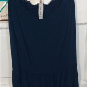 Final Touch Dresses - Navy Open Back Mini Dress